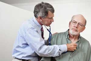 осмотр сердца пациента