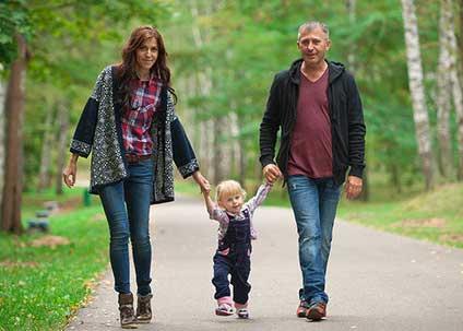 пешком с ребенком