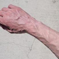 Хорошо видны вены на руках