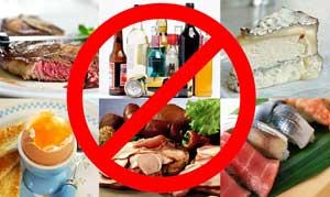 запрет на употребление пищи